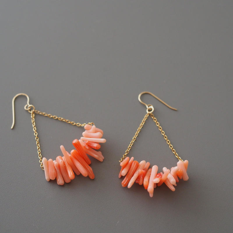 triangle pink coral
