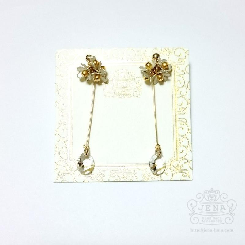 The daily life flowers 【with crystal】 イヤリング/ピアス