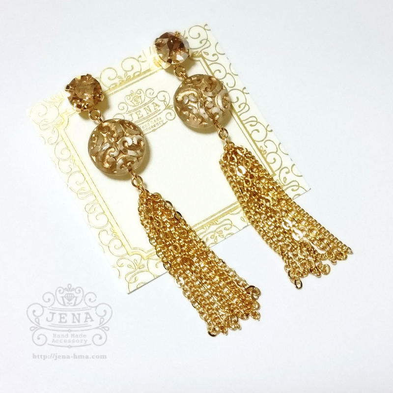 Chain tassel 【European×gold】 イヤリング/ピアス