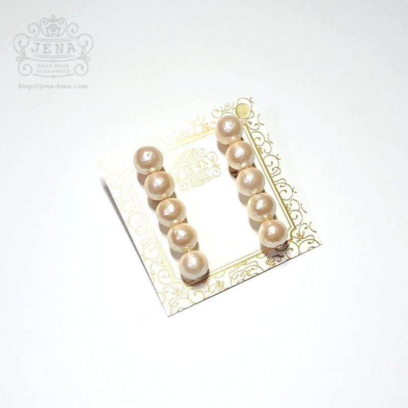 Simple cottonpearl stick 8mm イヤリング/ピアス