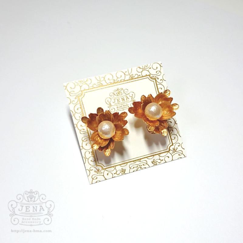 Steric Flower イヤリング/ピアス