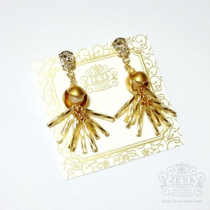 Beads fringe 【GOLD】イヤリング/ピアス