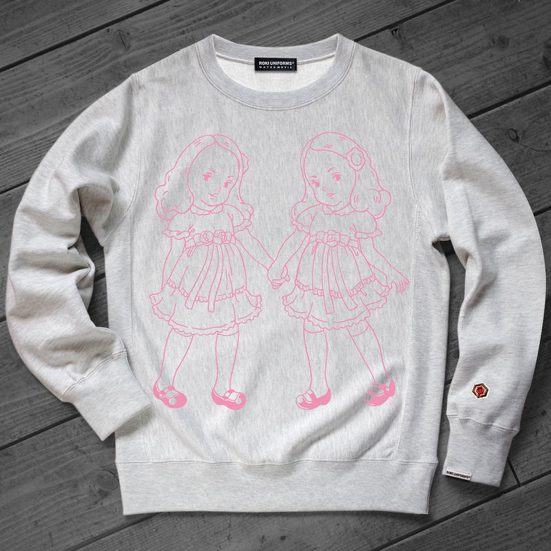 【1月8日締切!受注限定品】THE OVERLOOK TWINS SWEAT SHIRTS ver.Pink
