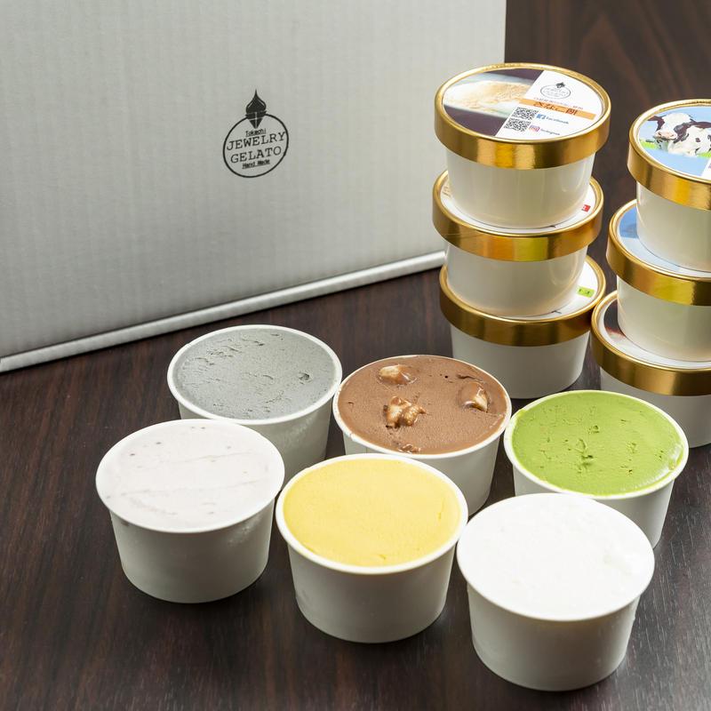 そのままの北海道牛乳ジェラートと人気の5種12個セット
