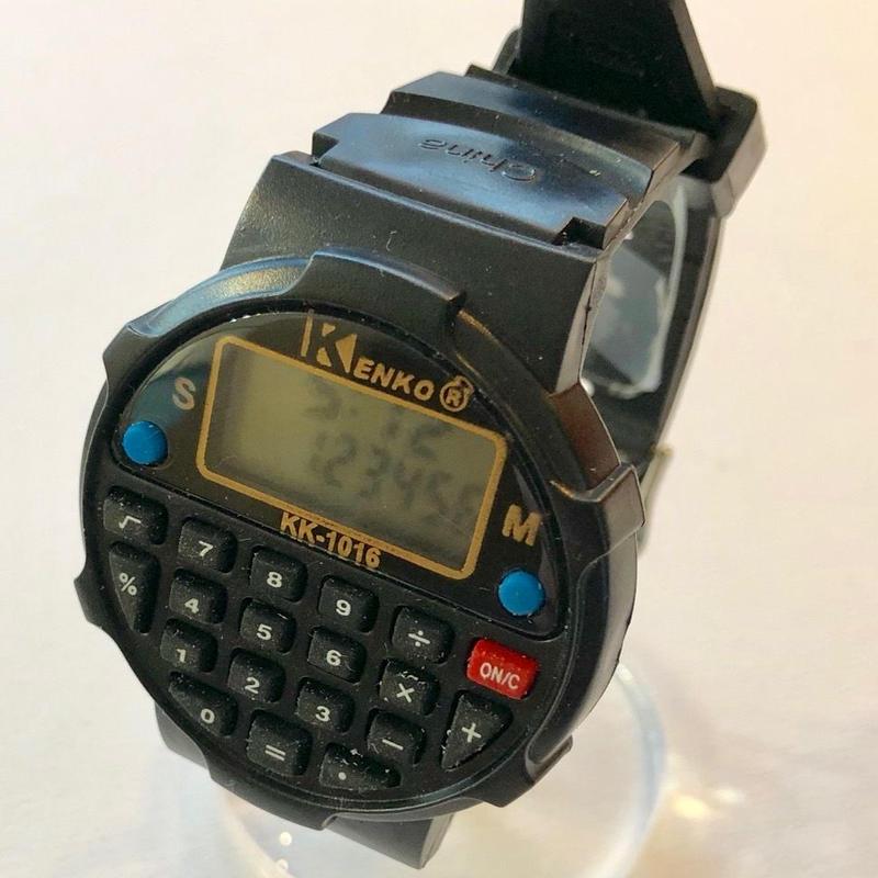電卓ウォッチ KK-1016 ブラックカラー