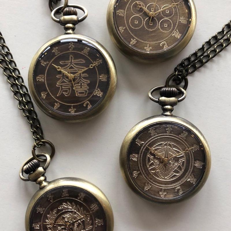 戦国武将の家紋懐中時計