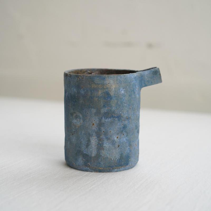 26 水谷智美 炻器 筒片口 L 藍色