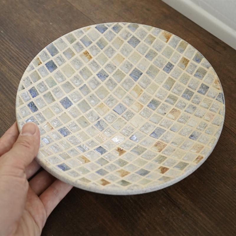 NO.45-2 市山くじらや カラフルタイル大皿