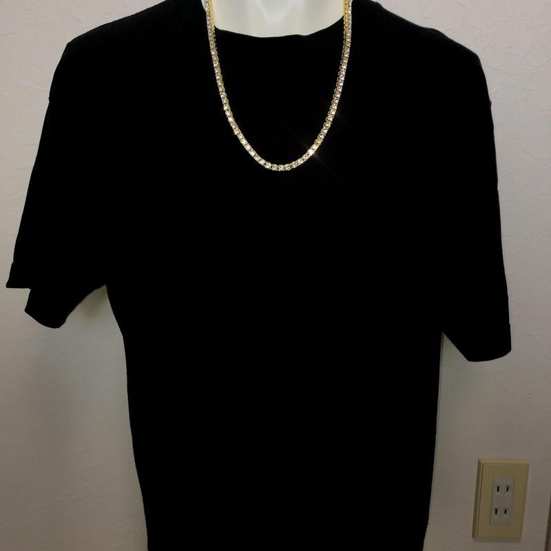 直径3mm AAAキュービックジルコニア テニス ネックレス tennis necklace