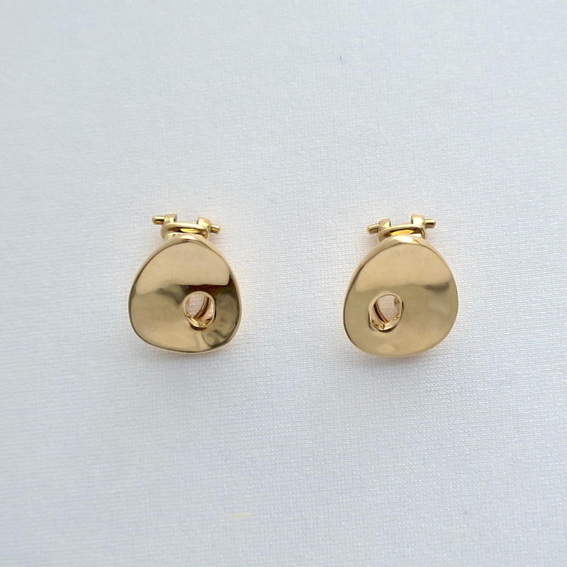 Earrings Ovalo 18KYG 02