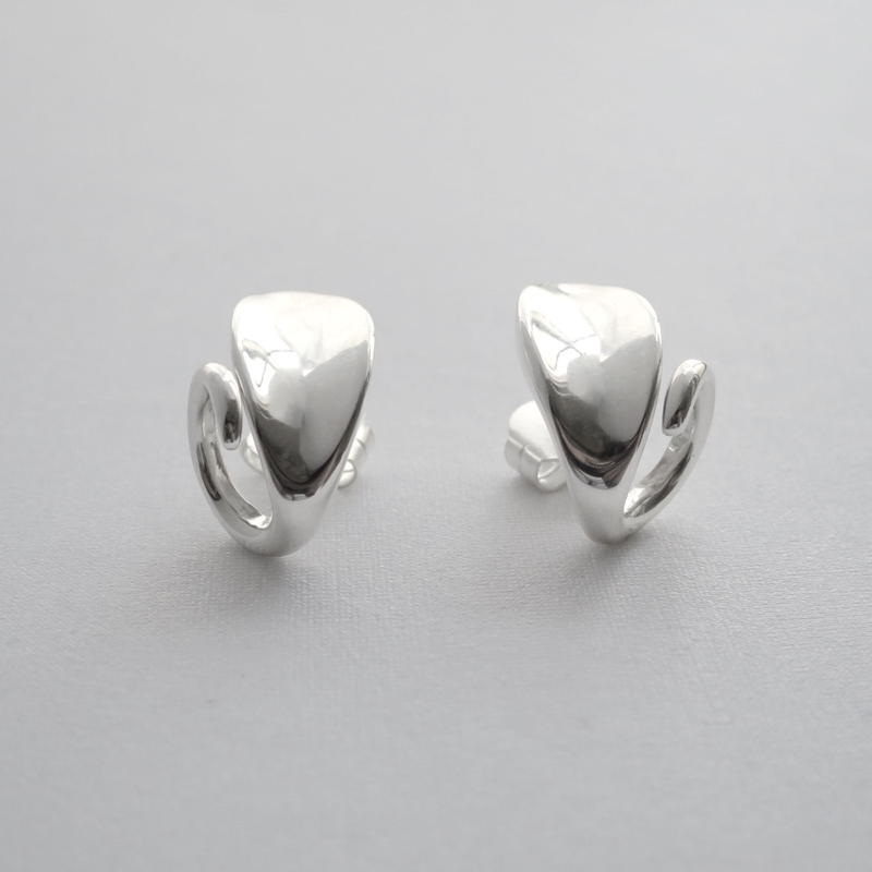 Earrings Elson Silver 01