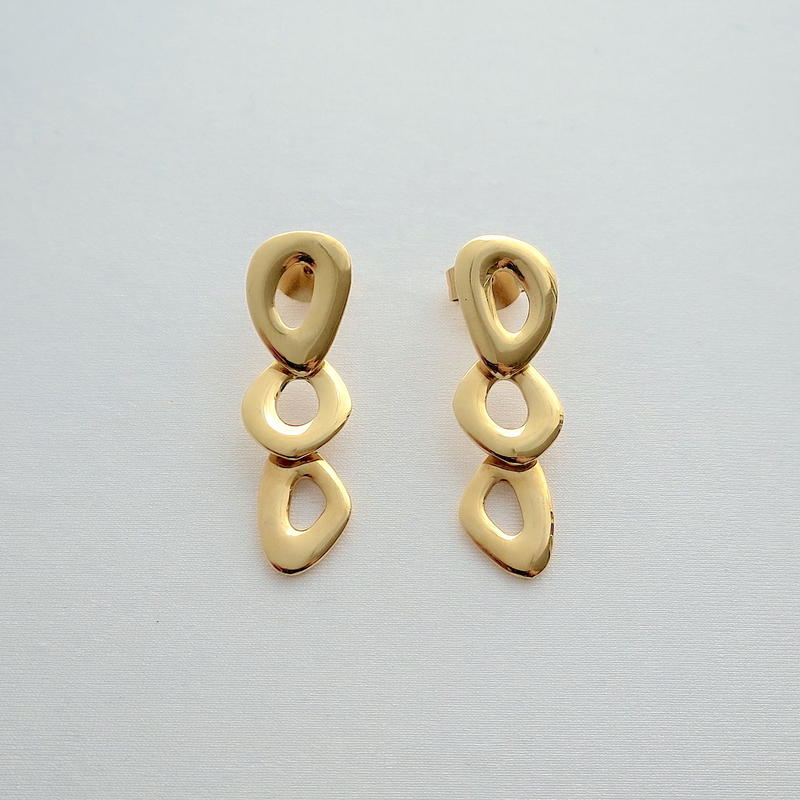 Earrings Ovalo 18KYG 01