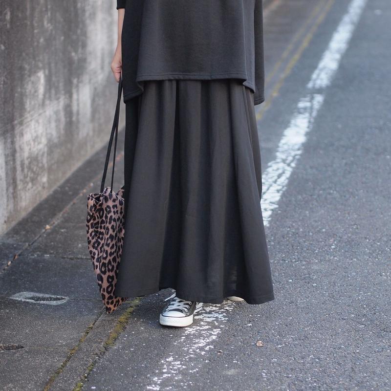 シフォン フレアーマキシスカート