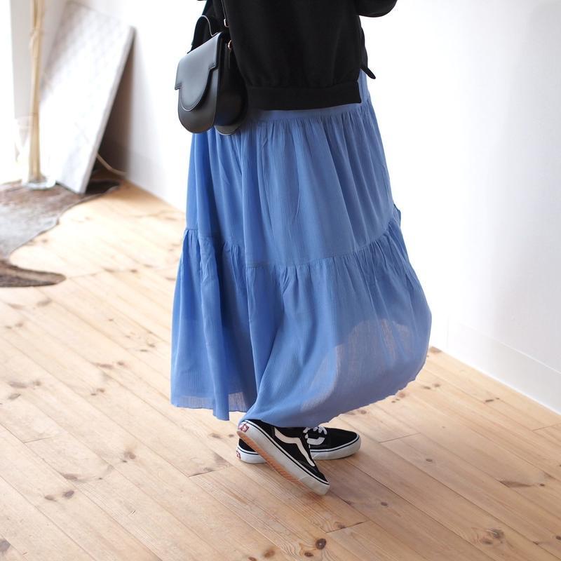 ティアード フレアーロングスカート