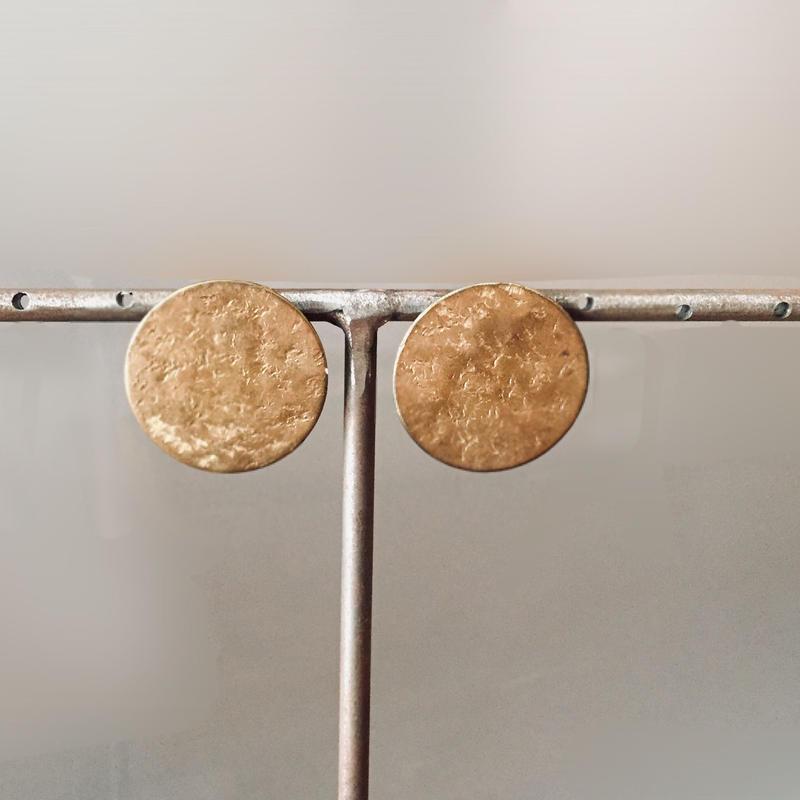 ear-2  真鍮イヤリング(樹脂性ノンホールピアス)