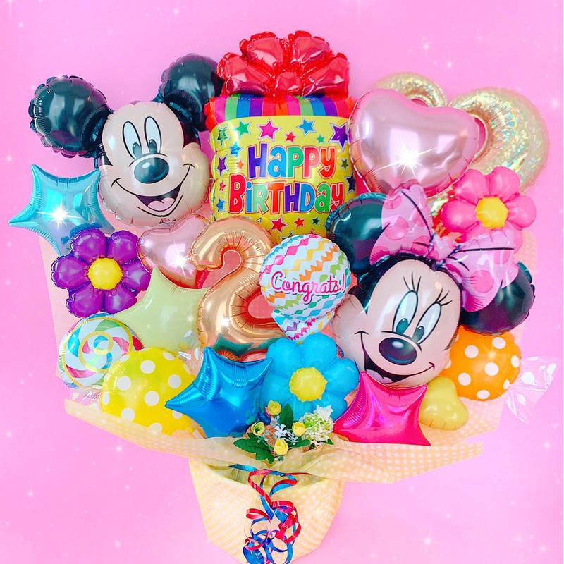 超特大サイズ★選べる数字バルーン♡人気のミッキーミニー♡お誕生日に♡