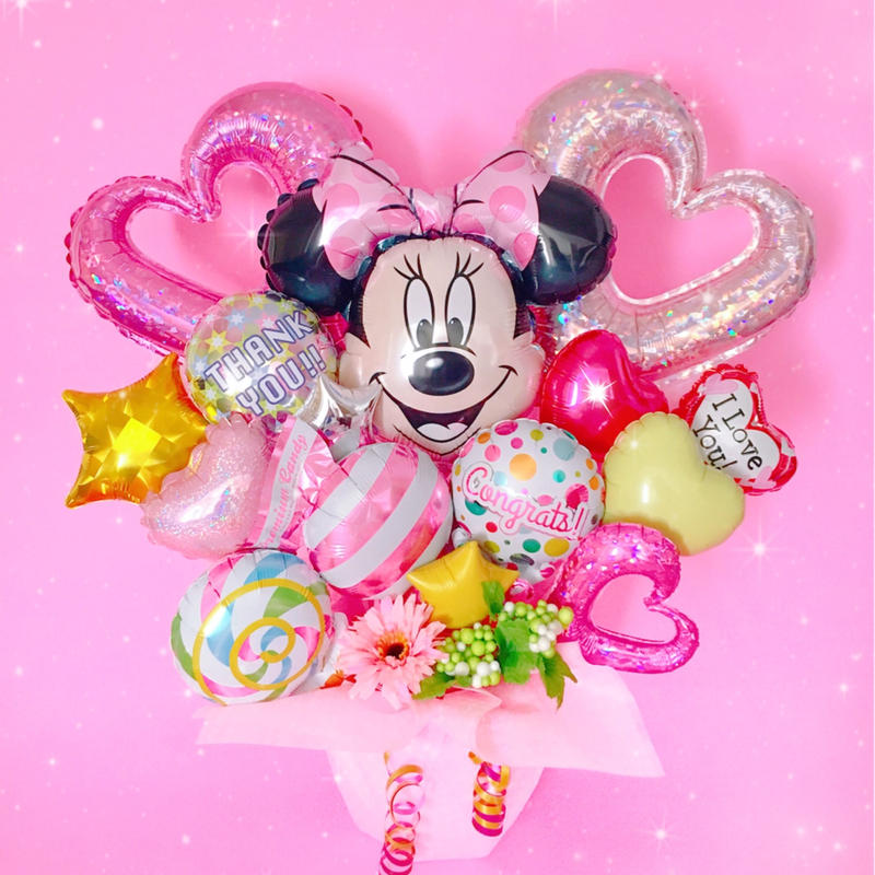 人気のミニーちゃんバルーンギフト♥お祝い♥記念日に♥