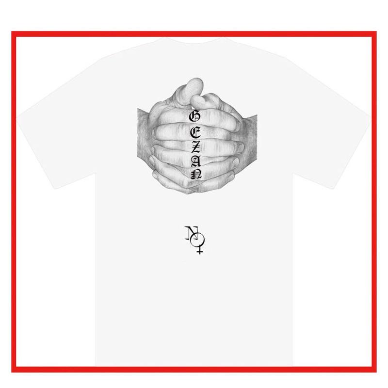 GEZAN//NO GOD T-shirts(white)