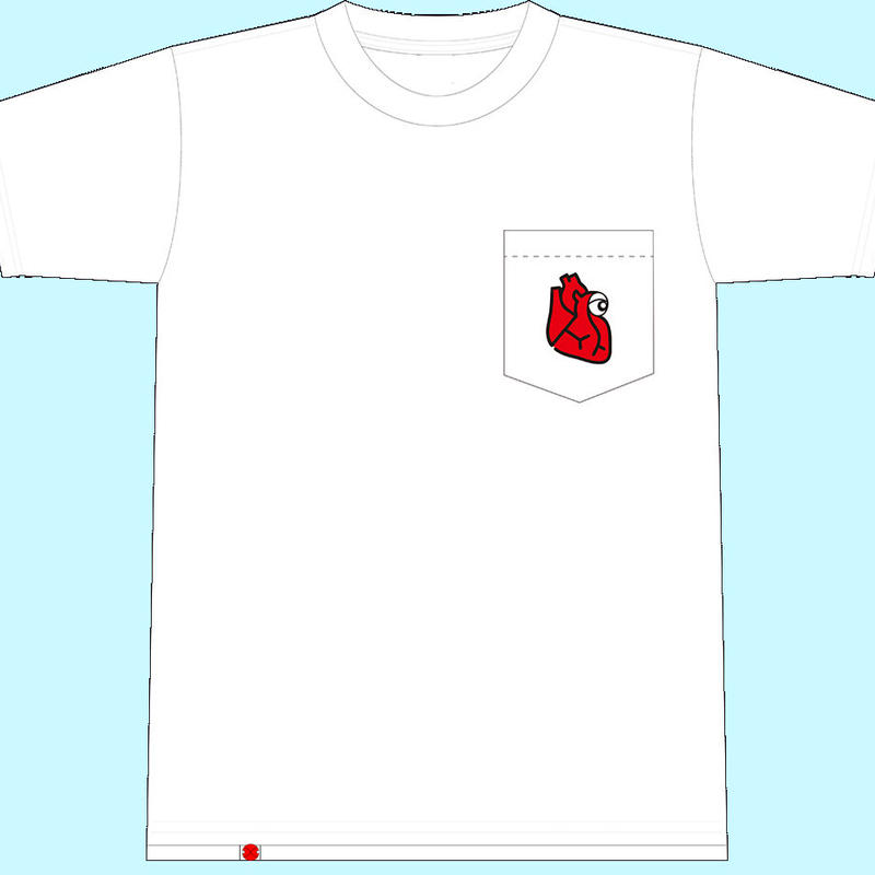 【T-shirt】胸ジンくんポケットT