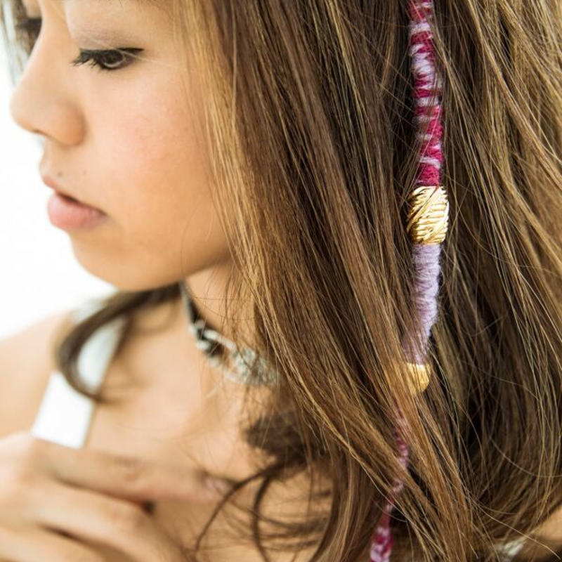 hairwraps / purple&pink