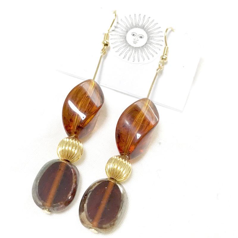 gold & brown pierce