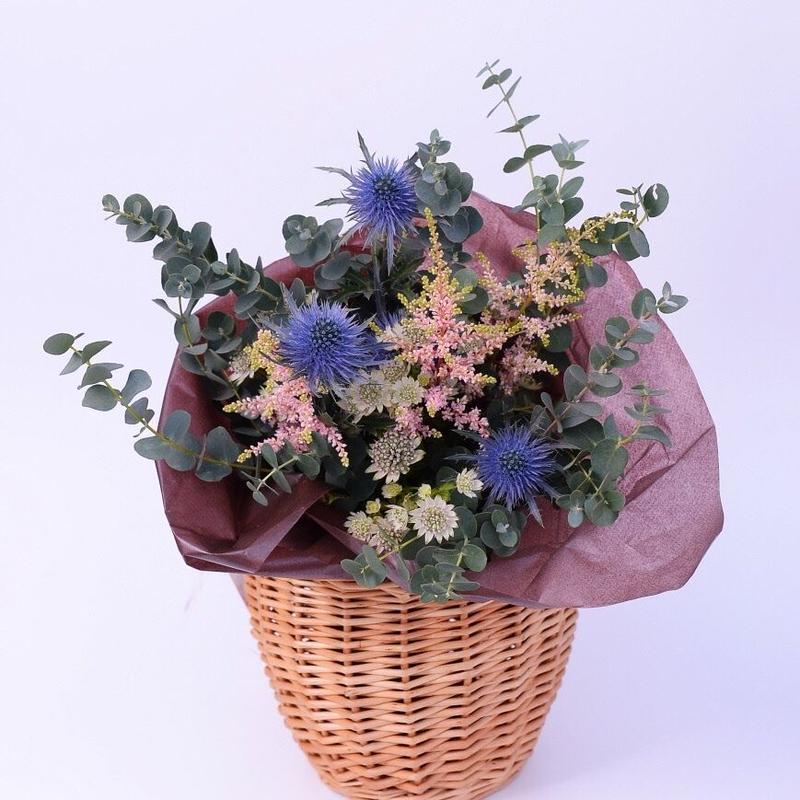 ナチュラル花束(カゴ付き)