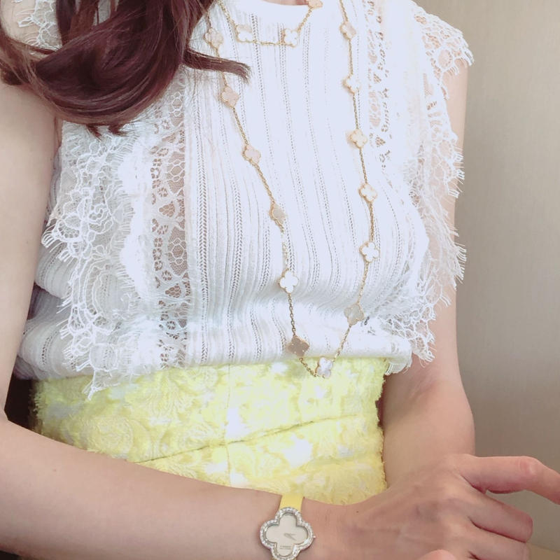 white knit lace tops