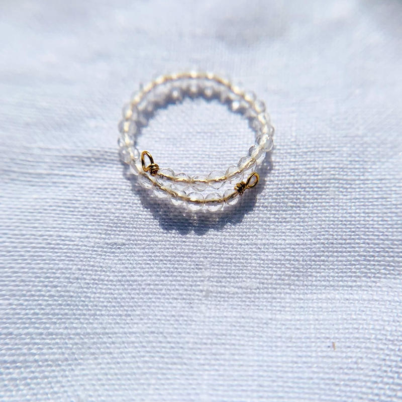 Crystal toe ring