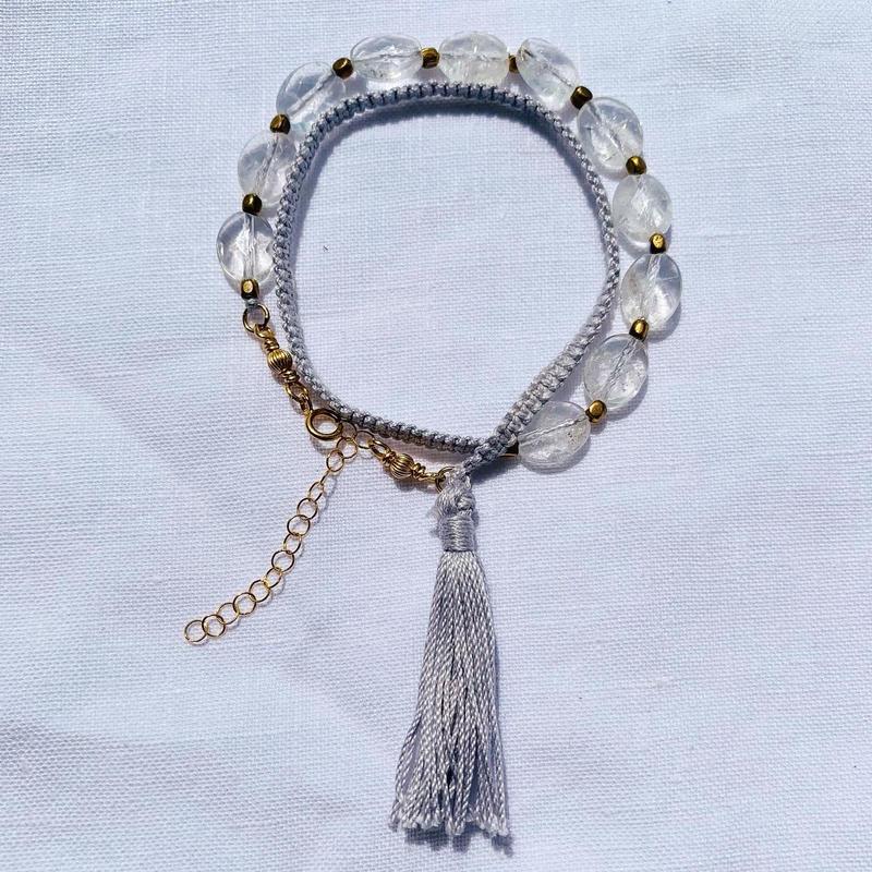 Crystal  fringe bracelet