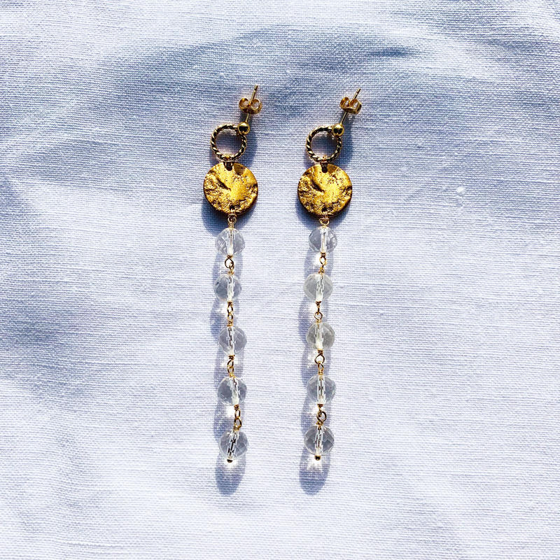 Crystal  Moon earring