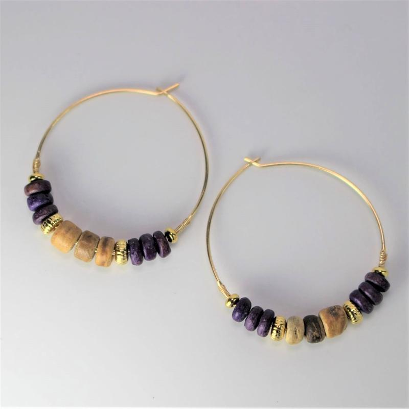woodbeads pierce ***purple
