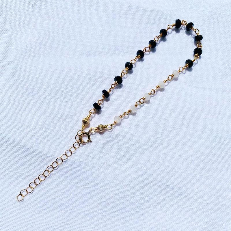 Moonstone × Onyx  bracelet