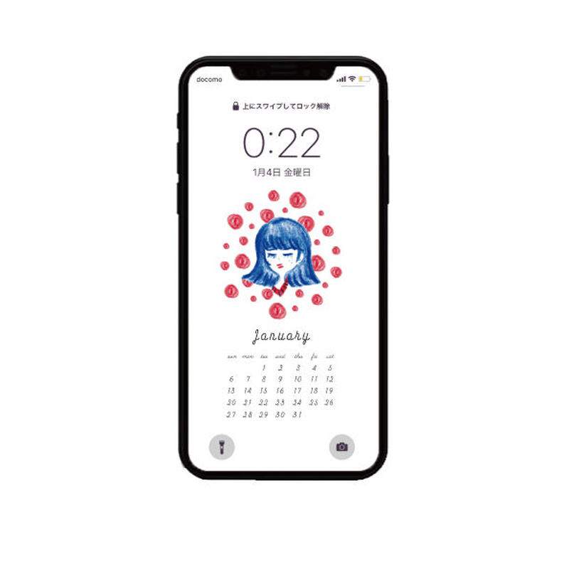 2019 January calendar 〰︎ iPhone用