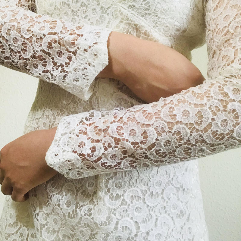 60s  Lace Dress White