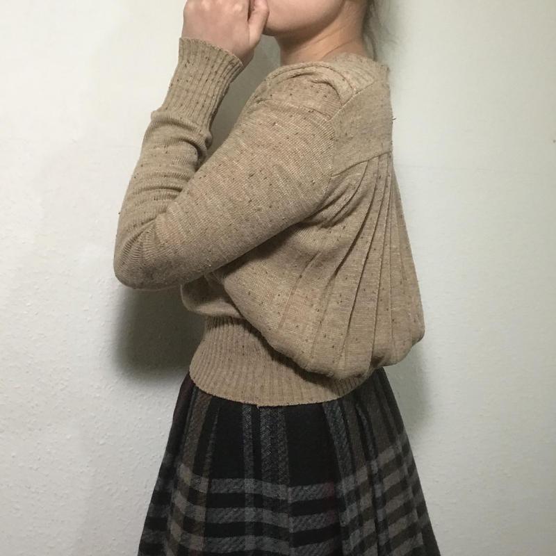 1980s Light Brown Sweater