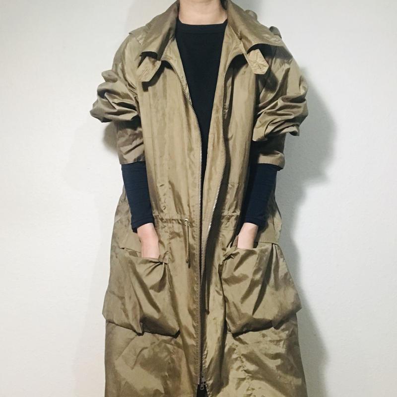 Khaki long coat  (no.302)