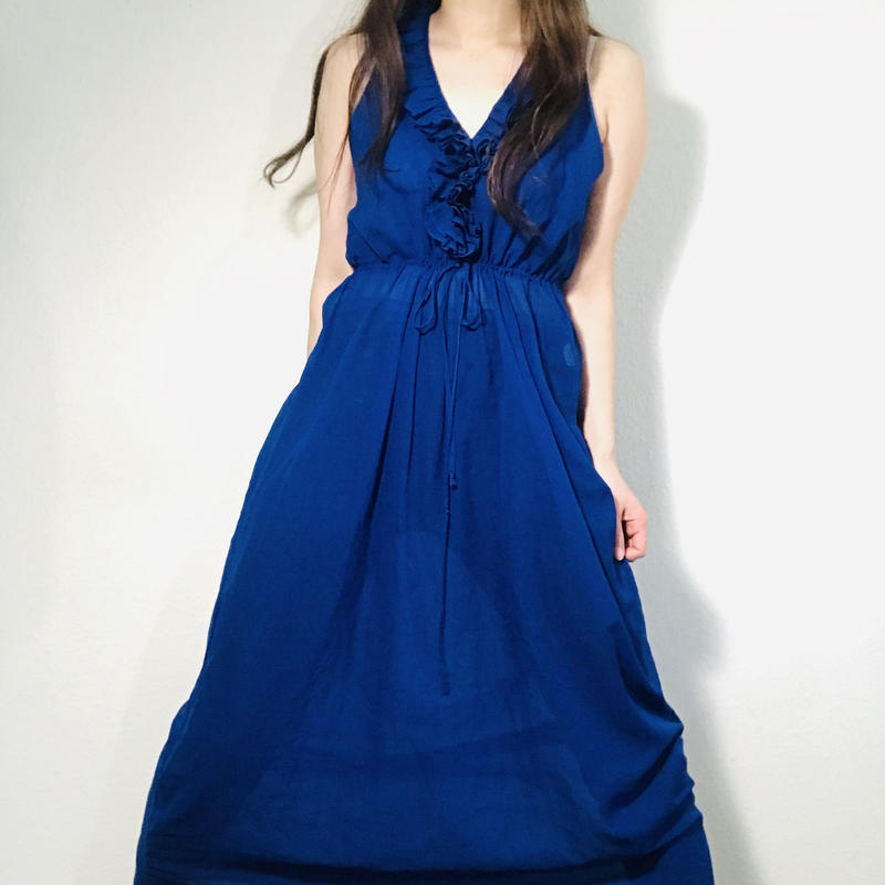 Set-up Dress & Robe Blue  (no. 340)