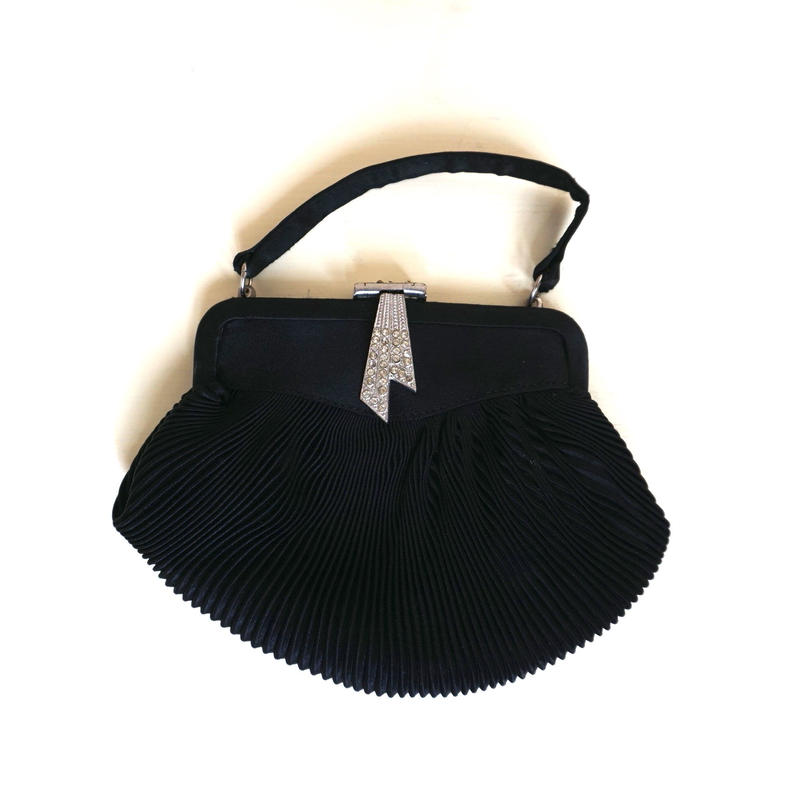 1960s  Black stain Vintage Evening Purse