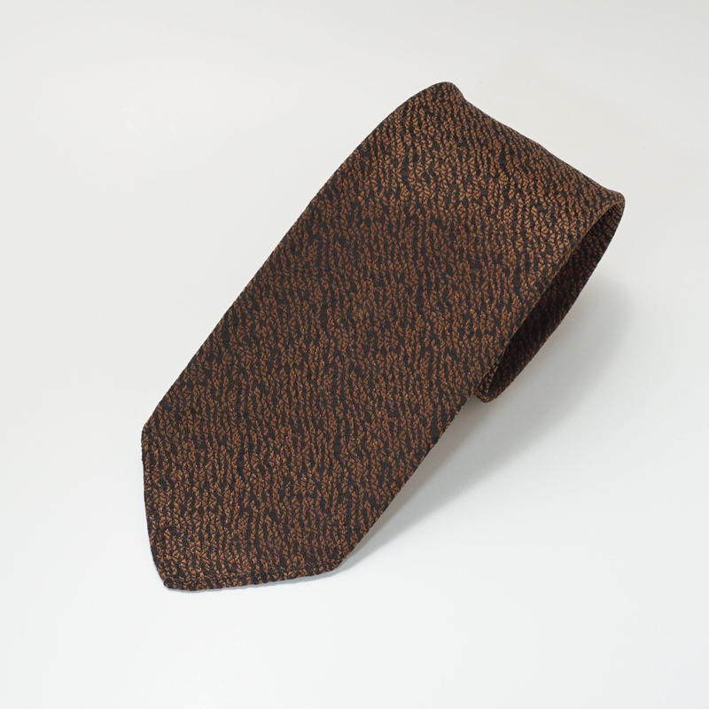 《送料無料》Vintage 60s Polyester Brown Tie (no.322)