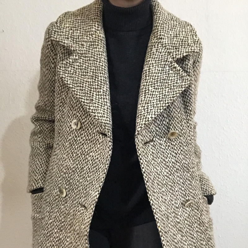 60s-70s  Aquascutum Tweed Coat  (no.275)