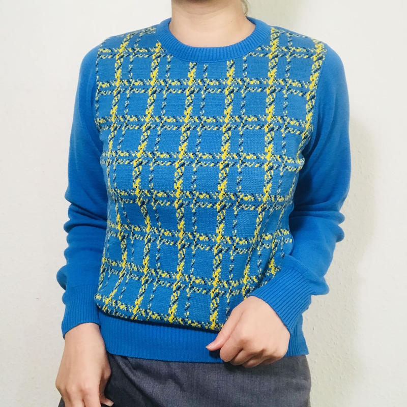 Maybe 90s Bright blue Knit Sweater