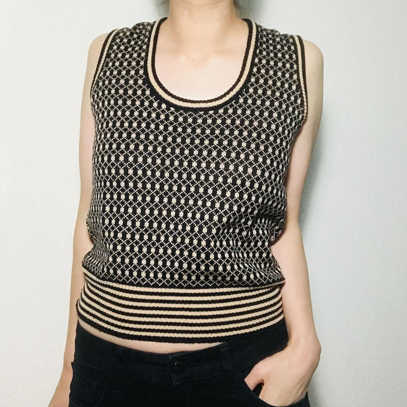 1960s  Knitted Vest Black