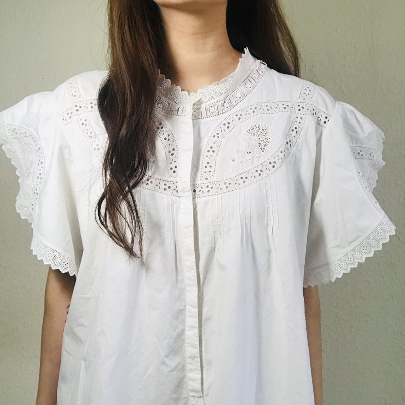 Early 20th century Lace Blouse White  (no.388)