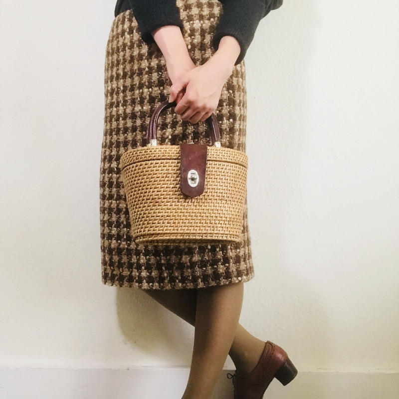Hobbs Tweed Skirt Brown