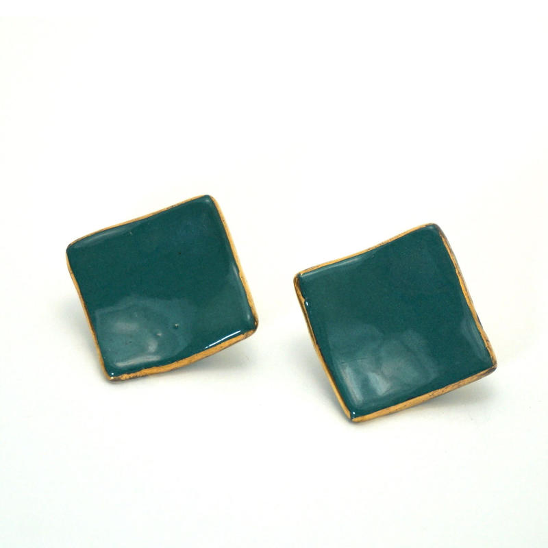 Clip-on Earrings Green《送料無料》
