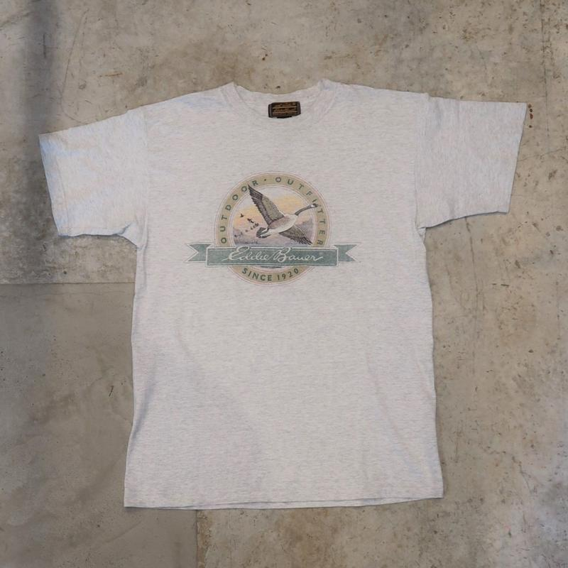 90's Eddie Bauer Logo Tee Made in USA