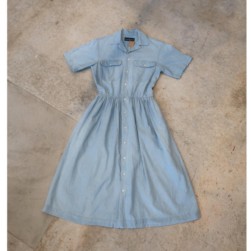 90's Ralph Lauren Chambray Onepiece For Women