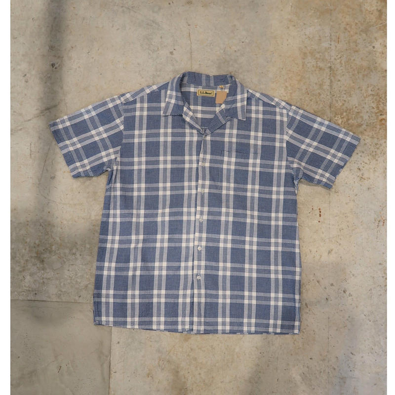 90's L.L.Bean Open-collar S/S Check Shirt
