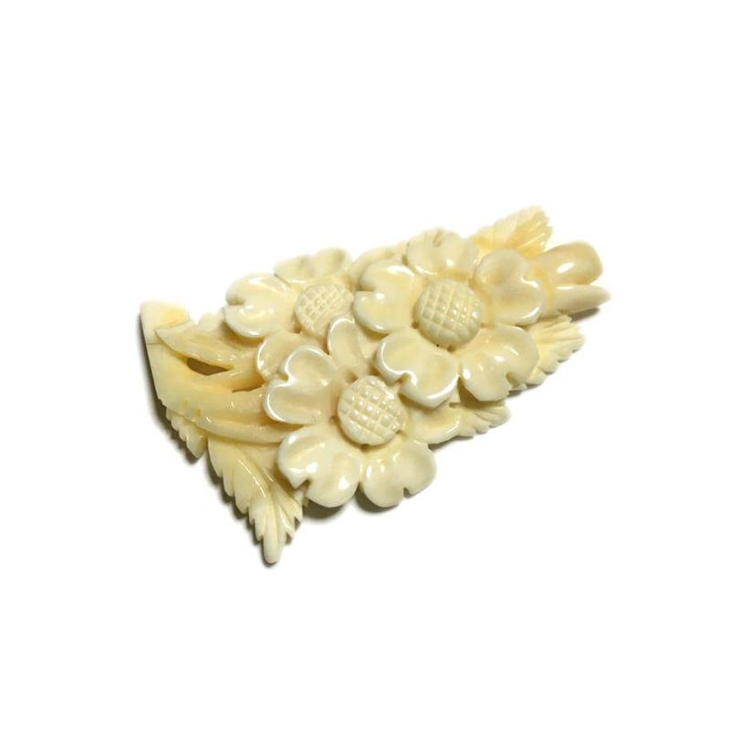 泉舟 作 鯨歯パーツ 桜の花 4030