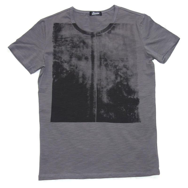 (完売しました)S/SフレームTシャツ CH(チャコール)